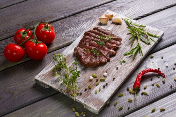 delicious beef steak with tomato