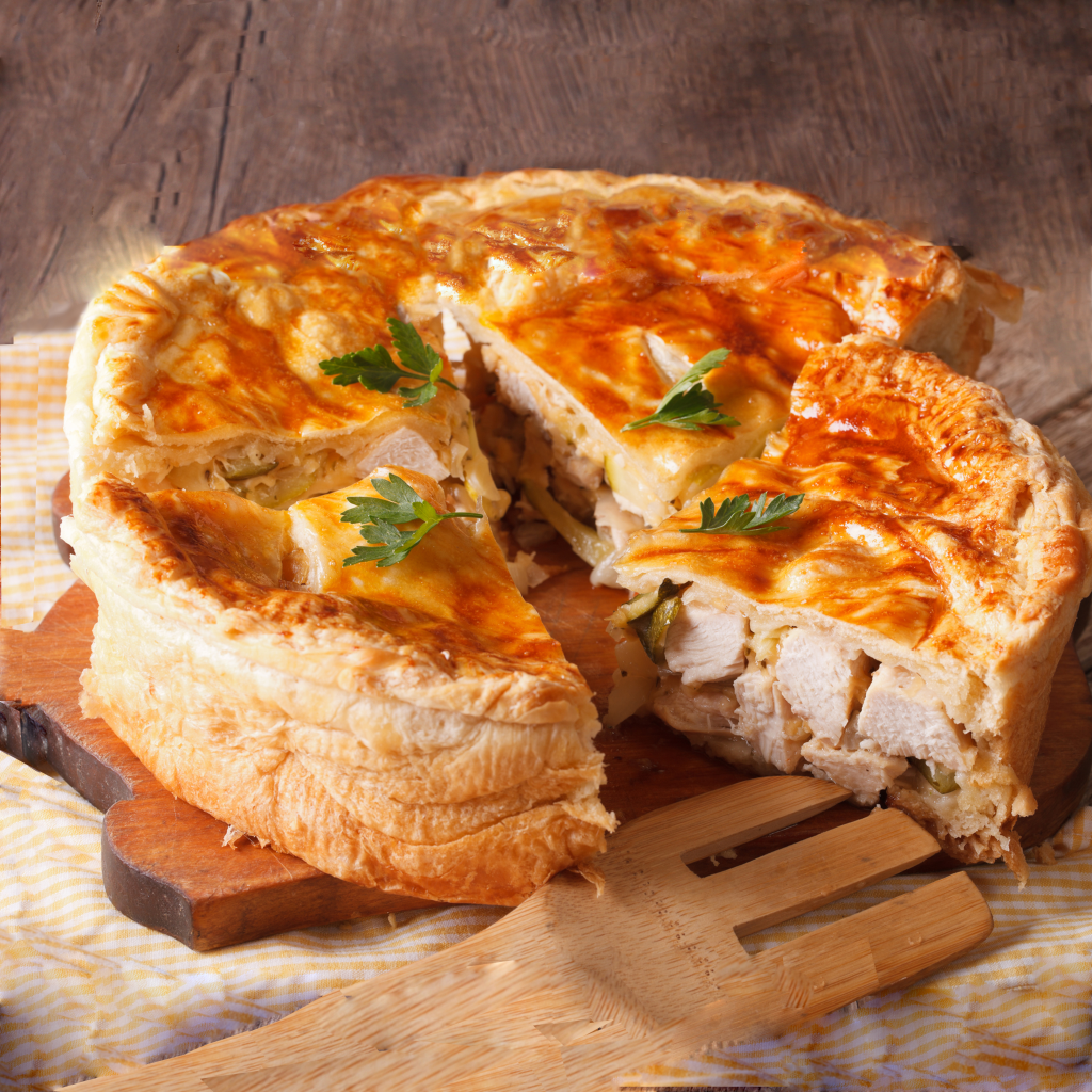 Family Pie - Chicken $9.50 each - Brookside Country Meats